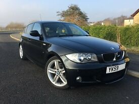 2009 59 BMW 1 SERIES 2.0 118d M SPORT 5DR *FULL CREAM LEATHER, £30 ROAD TAX*
