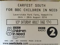 VIP CARFEST SOUTH SATURDAY 27th DAY TICKETS. 2 ADULTS + 2 CHILDREN