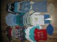 Large bundle (29 items) of boys clothes (inc M&Co, M&S, Next items) ages 3-6 months