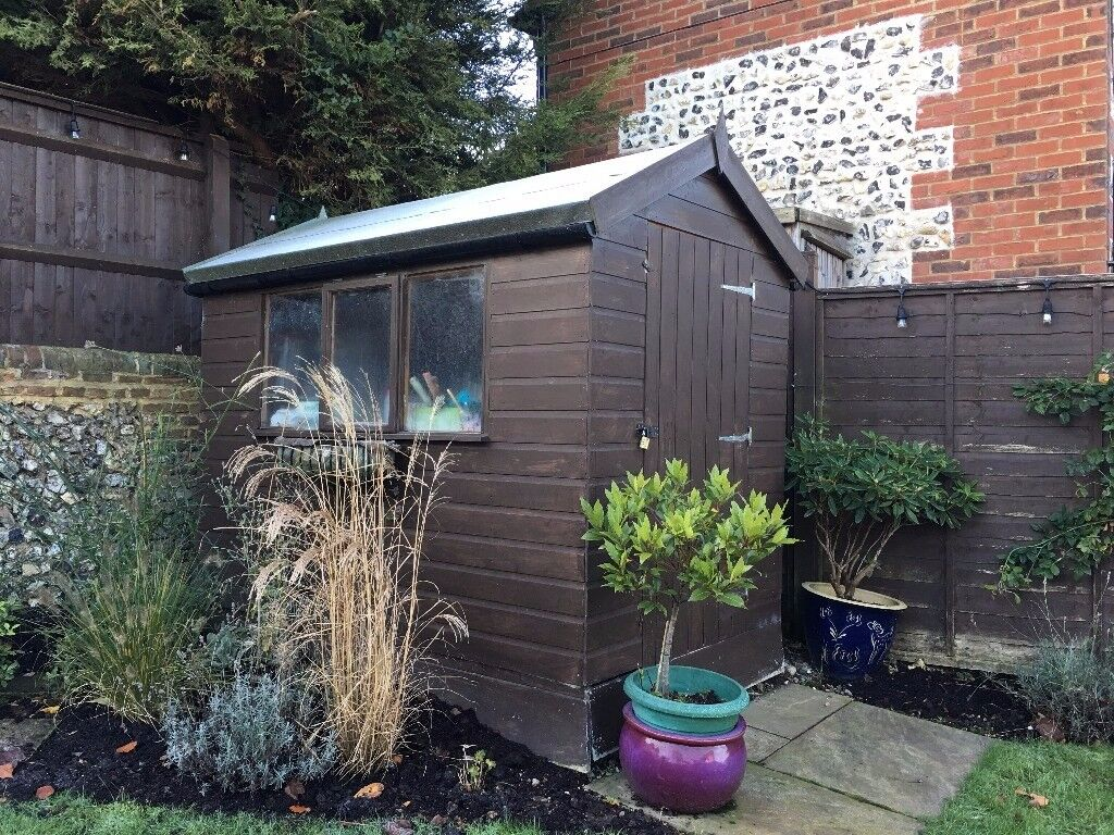 7ft x 5ft garden shed excellent condition less 4 yrs old - Garden Sheds 7ft X 5ft