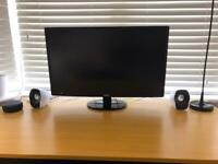 """Acer 27"""" Monitor S271HL with Speakers Logitech Z120 and Smart LED light strips"""