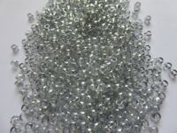 Toho Seed Beads, 8/0 Opaque Lustre White, Trans Black Diamond, Metallic Purple Iris
