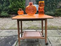 1970's desk trolley television unit stand kitchen island