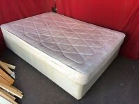DOUBLE DIVAN BED WITH MATTRESS,CAN DELIVER