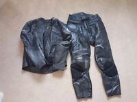 Belstaff Motorcyle Leathers (Jacket & Trousers) Size 48 UK