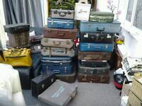 Vintage retro suitcases ideal bedroom or shop display or upcycling projects props etc