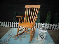SOLID PINE FARMHOUSE EXTRA LARGE ROCKING CHAIR VERY SOLID AND STURDY CHAIR