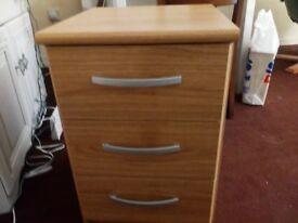 Three drawer unit