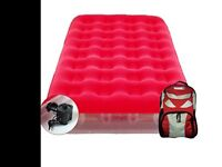 Aerobed single camping single bed 60 second blow up