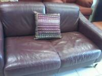 Soft Italian leather sofa
