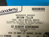 Bryson tiller ticket Birmingham 22nd November