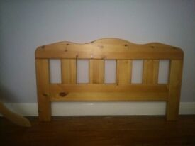 COT BED CHILD BED HEADBOARD / FOOT FRAME ONLY LIGHT WOOD