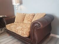 3 AND 4 SEATER LEATHER /FABRIC SOFA OPEN TO OFFERS