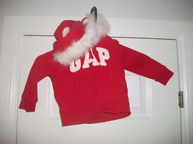 red gap hoodie 1-1.5yrs collect or deliver Stonehaven only, no postage