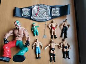 WWE figures and belt