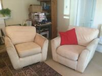 Comfy, beige sofa and arm chairs looking for a new home!