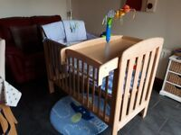 Mamas & Papas Cot Beech with cot top changer