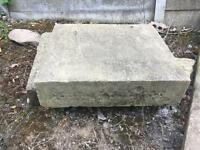 Stone blocks , reclaimed, garden , features