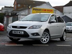 09 REG FORD FOCUS ZETEC 1.6cc 5 DOOR...Call PaysleyCarSales 01418899200 / Mob, 07895607121