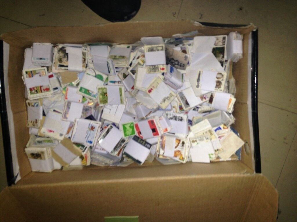 1kg of used uk stamps