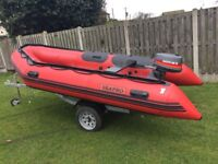 Inflatable rib/ boat /engine /trailer