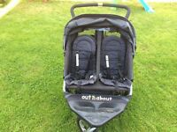 Out and about double buggy for sale