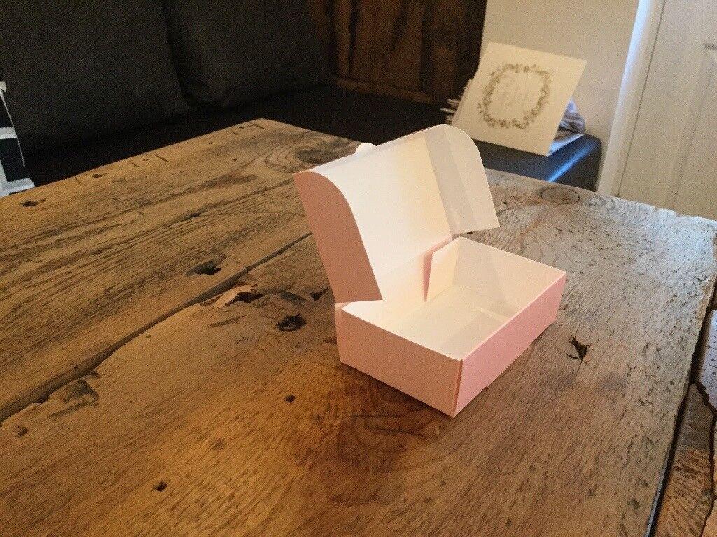 50 made wedding cake boxes baby pink
