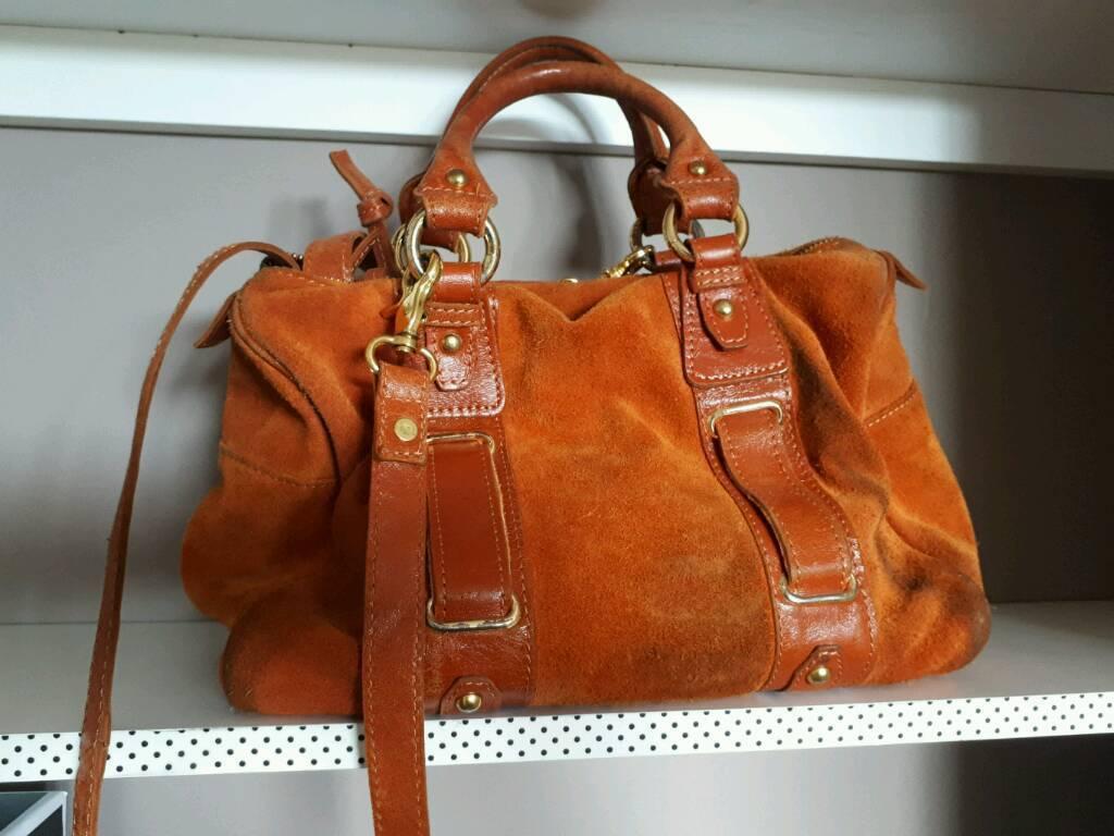 River island orange suede bag