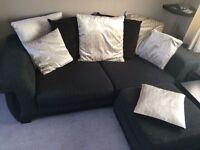 SOFA SCS black scatter back fabric sofa
