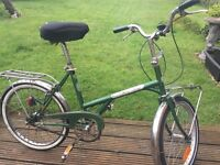 """Dawes 20"""" shopper style unisex cycle. benefit of two racks. Fitted with lights and recently serviced"""