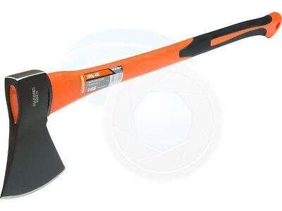 (Carbon Steel 3.3lb 1.5kg Hatchet Axe Fiberglass Body Rubberized Handle)