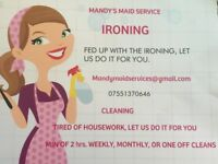 Mandy Maid Services is a North East based cleaning and ironing service.