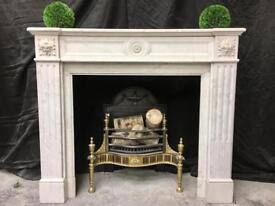 Antique French Victorian Marble fireplace surround