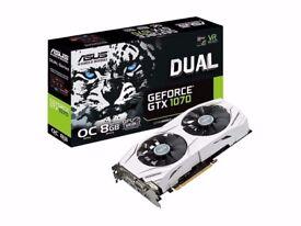 Asus Nvidia Geforce GTX 1070 DUAL 8GB GDDR5 PC Graphics Card DUAL-GTX1070-O8G