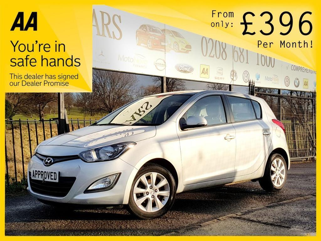 HYUNDAI I20 1.2 ACTIVE 5d 84 BHP Apply for finance Online toda (silver) 2013