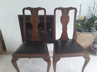 2 Dining Chairs with Ball and Claw front legseet