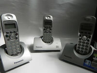 Panasonic KX-TCD445ES Digital Cordless Phone 3 Handsets