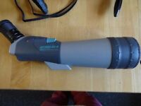 Vixen Spotting Scope 20x60 zoom 80mm Geoma 80A plus stay on case and hide clamp