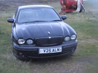 Jaguar X TYPE on private plate