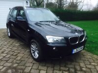 BMW X3 2.0d SE xDrive 4x4 6 speed manual. Professional Sat Nav. Leather. Communications pack, FbmwSH