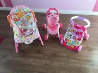 First walkers / girls rocker chair