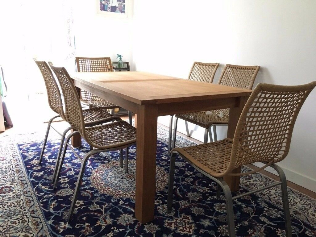 Next Cambridge Oak Extendable Dining Table With 6 Ikea