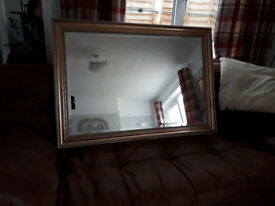 Very large, Gold bevelled mirror.