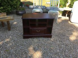 Mahogany Wooden TV Unit with Draw