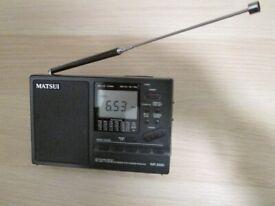 Matsui WR220D Scanning Shortwave Receiver 2.3 - 26MHz