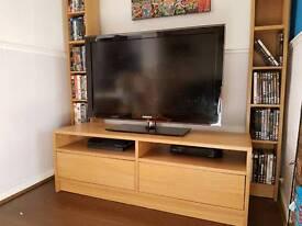 TV unit - Ikea Besta oak effect.
