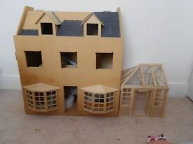 Dolls House with Conservatory in need of finishing off