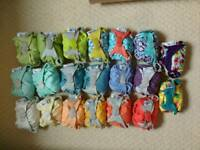Reusable nappies + accessories
