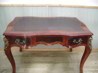 Stunning Burr Walnut Inlay Louis XVI Desk