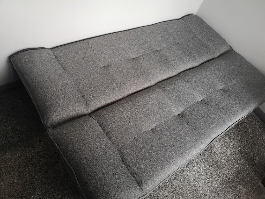 Lima Fabric Sofa Bed In Grey